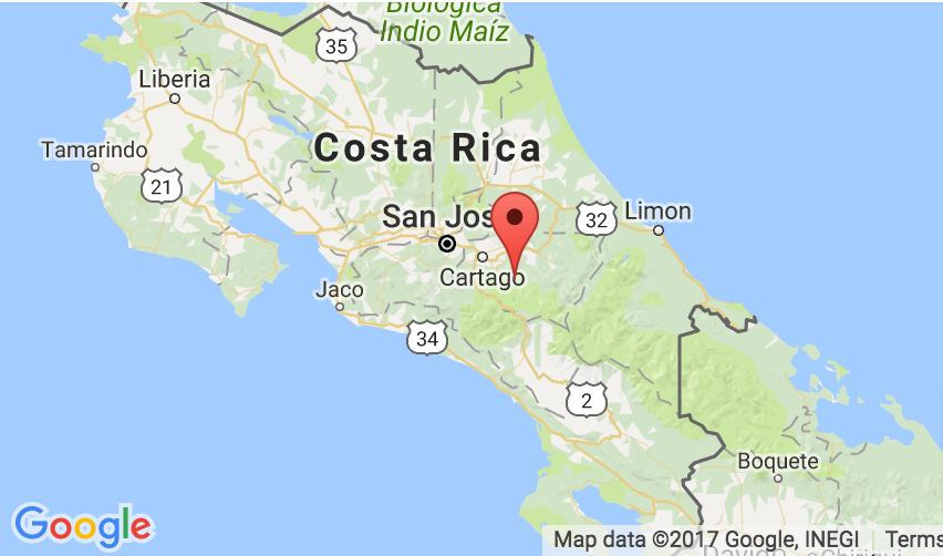 Costa Rica Map Motorcycle Rentals